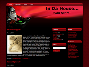 In Da House at Christmas Time WP Theme
