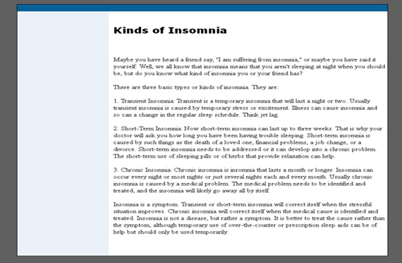 Insomnia WP Website
