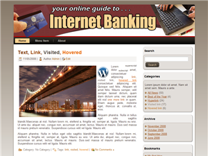 Internet Banking WP Theme Edition 1