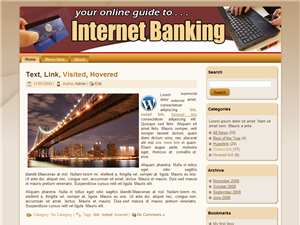 Internet Banking WP Theme Edition 2