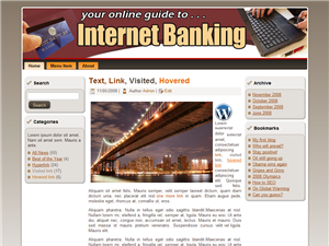 Internet Banking WP Theme Edition 3