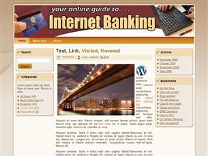 Internet Banking WP Theme Edition 4