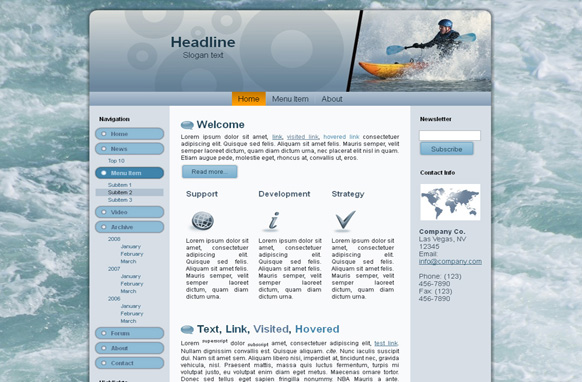 Kayaking HTML Template