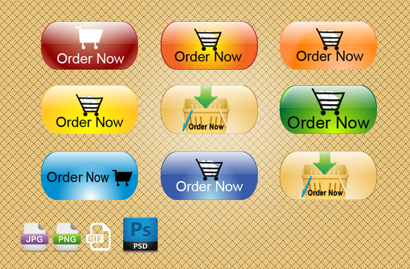 Order Now PSD PNG GIF JPG Badges