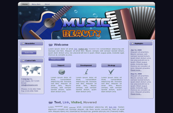 Music Beauty WP Theme