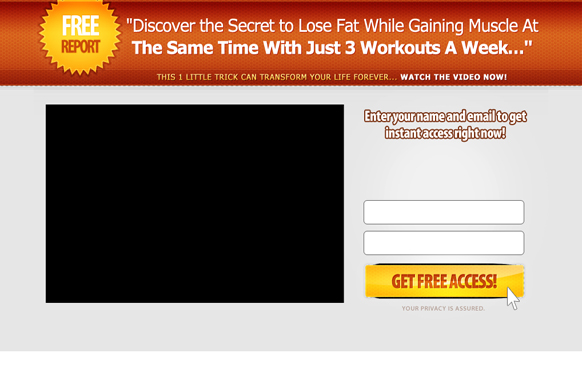 Video PSD Squeeze Page Edition 4