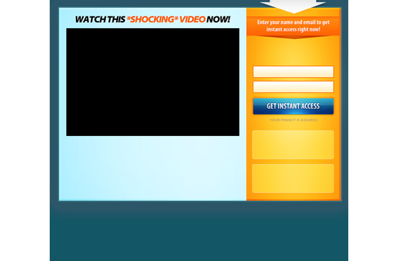 Video PSD Squeeze Page Edition 6