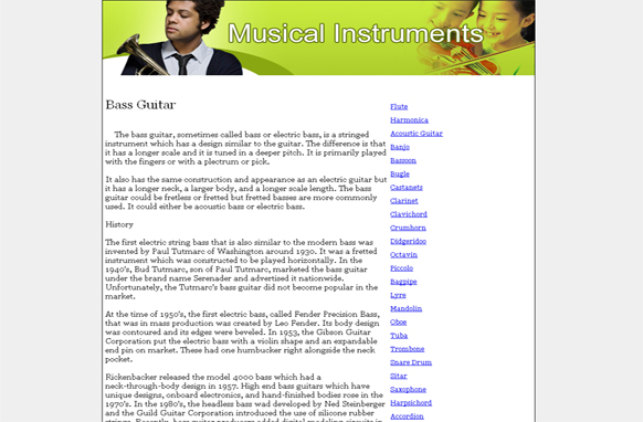 Musical Instruments PLR Website Articles and PSDs
