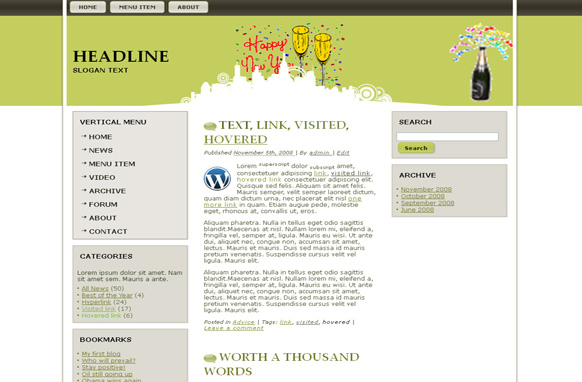 New Years WP Theme Edition 3
