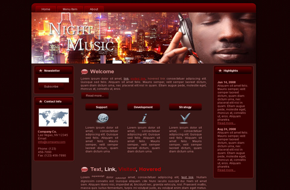 Night Music WP Theme