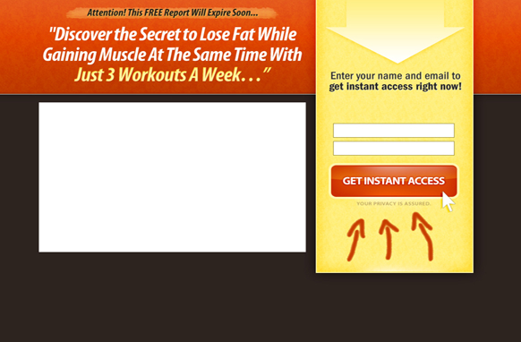 Video PSD Squeeze Page Edition 10