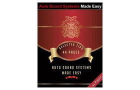 Auto Sound Systems Made Easy