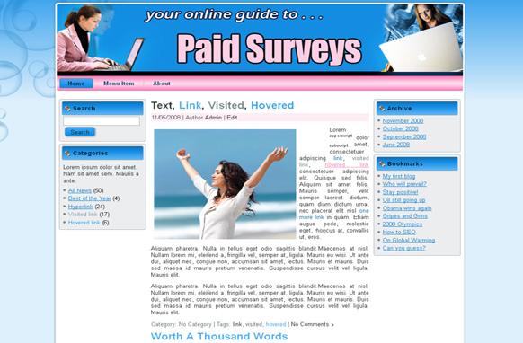 Paid Surveys HTML Template Edition 3