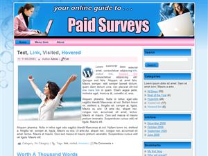 Paid Surveys WP Template Edition 1