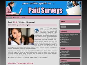 Paid Surveys WP Template Edition 2