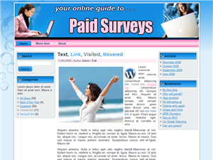 Paid Surveys WP Template Edition 3