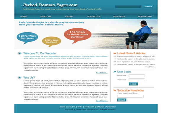 Parked Domain Pages HTML Template