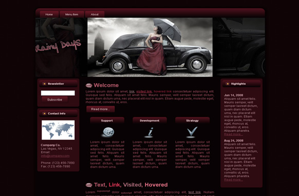 Purple Rain HTML Template