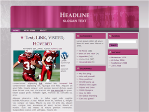 Purple Sport WP Theme