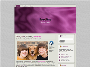 Purple Thoughts WP Theme