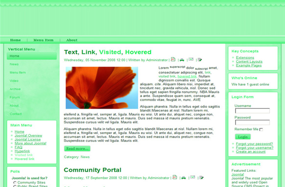 Sea Green Drupal Theme Edition 1
