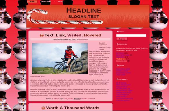Season Greeting HTML Template Edition 3