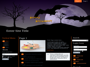 Seasonal Halloween WP Theme Edition 3