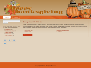 Seasonal Thanks Giving WP Theme Edition 1