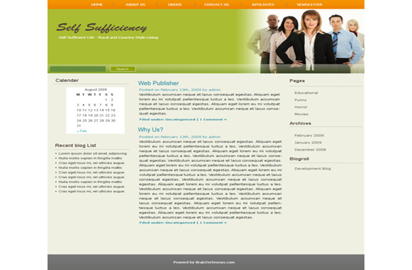 Self Sufficiency WP Theme