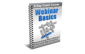 Webinar Basics 5 Day Crash Course