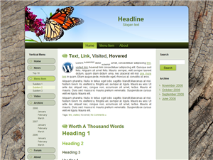 Butterfly WP Theme Edition 1