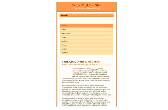 Cataloupe Mobile HTML Website Template