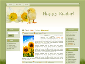 Chick Easter Parade Blogger Theme
