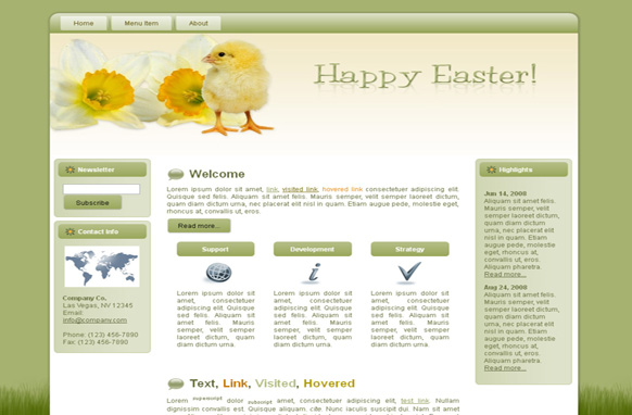 Chick Easter Parade HTML Template