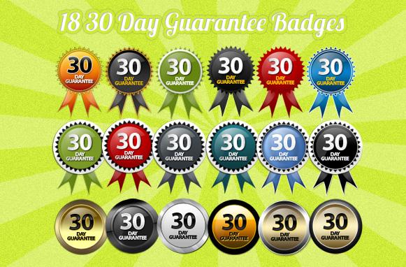 18 30 Day Guarantee Badges