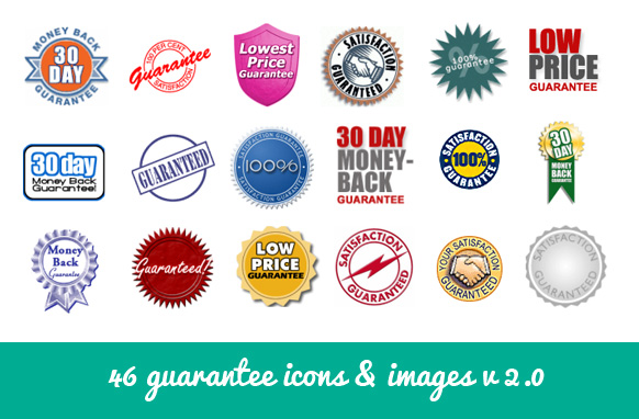 46 Guarantee Icons & Images v2.0