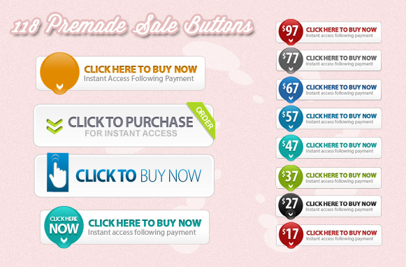 118 Premade Sale Buttons
