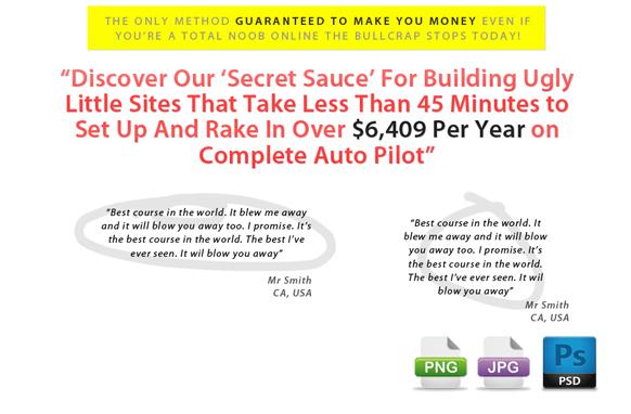 Awesome Marketing PSD Sales Headline Edition 14