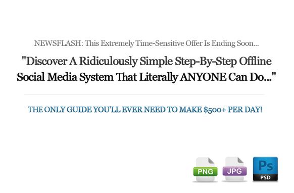 Awesome Marketing PSD Sales Headline Edition 16