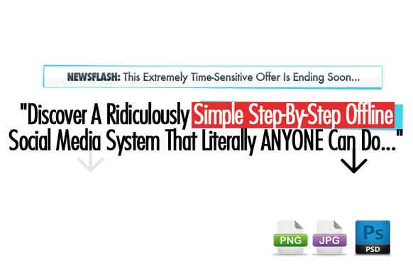 Awesome Marketing PSD Sales Headline Edition 17