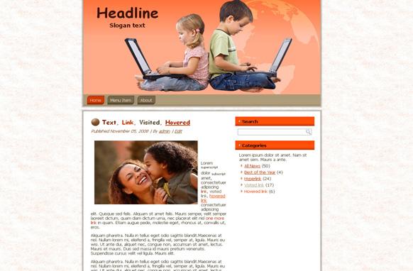 Children HTML Template