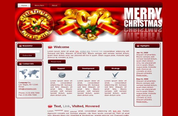 Christmas & New Year HTML Template Edition 1