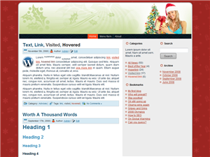 Christmas Girl WP Theme Edition 1