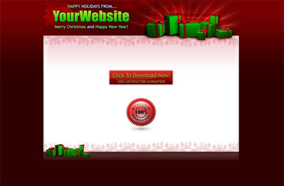 Christmas HTML Salepage Template Edition 3