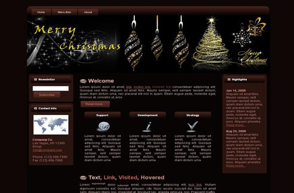 Christmas HTML Template Edition 2