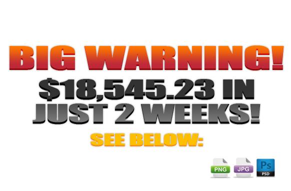 Awesome Marketing PSD Sales Headline Edition 26