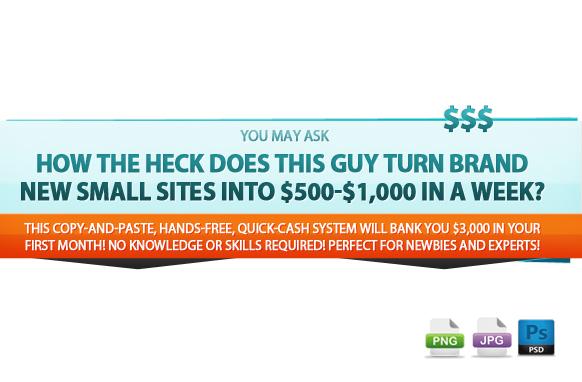 Awesome Marketing PSD Sales Headline Edition 27