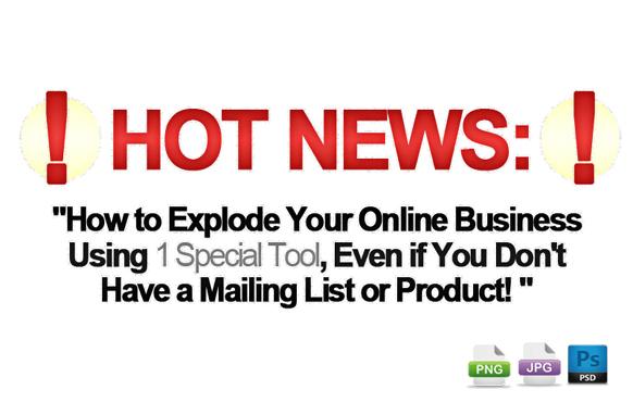 Awesome Marketing PSD Sales Headline Edition 32