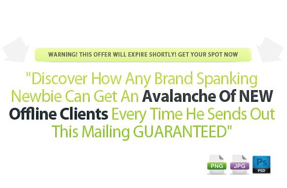 Awesome Marketing PSD Sales Headline Edition 40