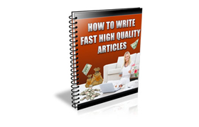 How To Write Fast High Quality Articles